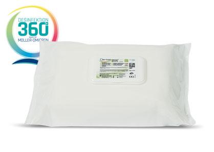 Dentalrapid soft SD wipes mit Desinfektion 360 Grad Logo